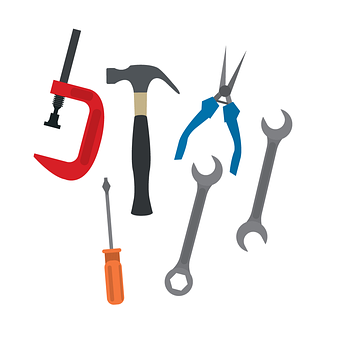 Tools, Spanners, Hammers, Wrench, Work