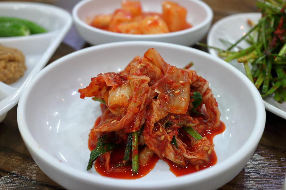 กับข้าว, อาหาร, เกาหลี, ชนบทโต๊ะรับประทานอาหาร, กิมจิ