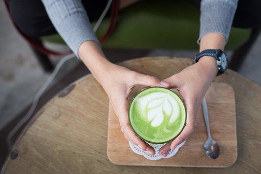 Matcha Latte, Hot, Matcha, Beverage, Tea