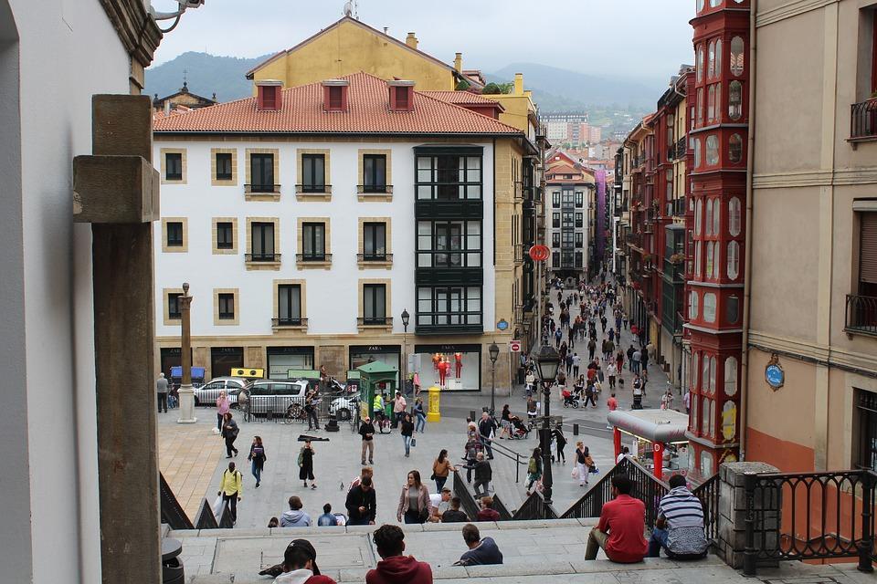 Casco Viejo, Bilbao, Tarde, Gente, Personas, Cultura