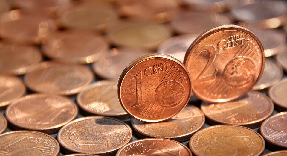 コイン, セント, お金, 支払い方法, 銅, ユーロ, 正貨, ユーロ セント, ルース ・ チェンジ