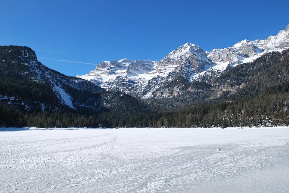 winter snow lake mountain - photo #25