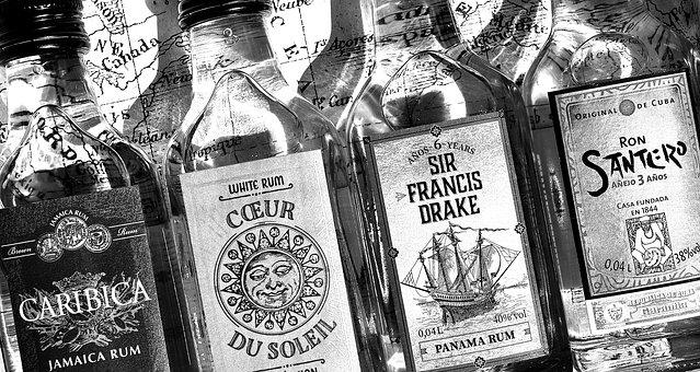 Rum, Alcohol, Bottles, Different Origin