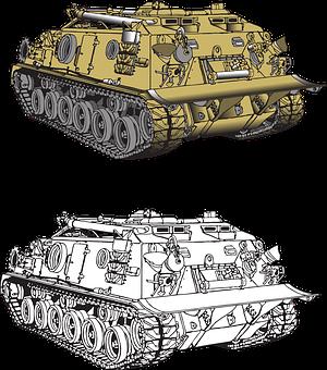 Military Vehicle, Tank, M88, Army, War