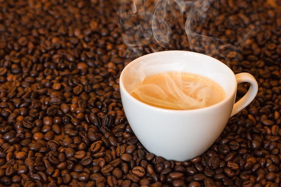 コーヒー, コーヒー カップ, ホット コーヒー, 蒸気, 煙, カップ, 黒, コーヒーカップ, カフェ
