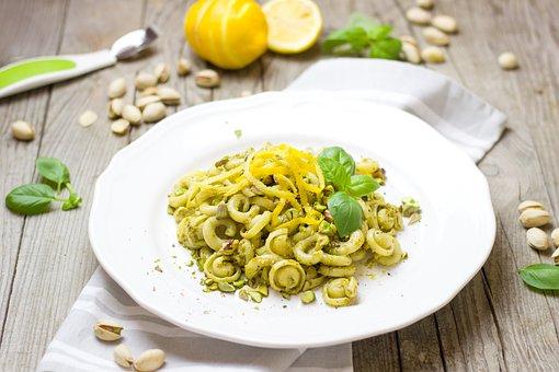 Pâtes Alimentaires, Nouilles, Au Pesto