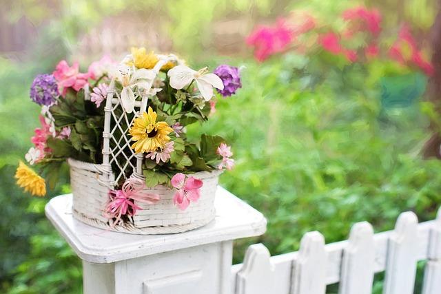 Flower Basket Flowers Blooms 183 Free Photo On Pixabay