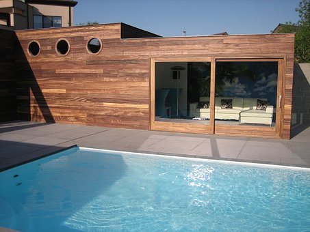 Swimming Pool, Garden House, Water