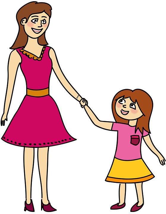 Mamma, Moeder, Mam, Ouder, Dochter, Baby Meisje, Meisje