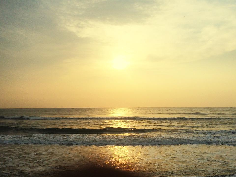 Sea At Evening, Photography Taken During Sunrise