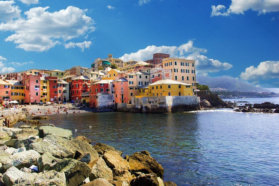 Genoa, Boccadasse, Landscape, Sea, Village