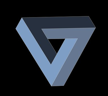 艾舍尔三角形, 三角形, 几何, 荒谬, 非理性, 令人困惑, escher
