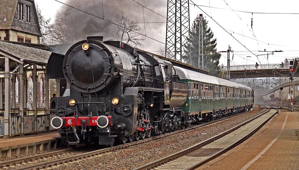 Lok, Zug, Eisenbahn