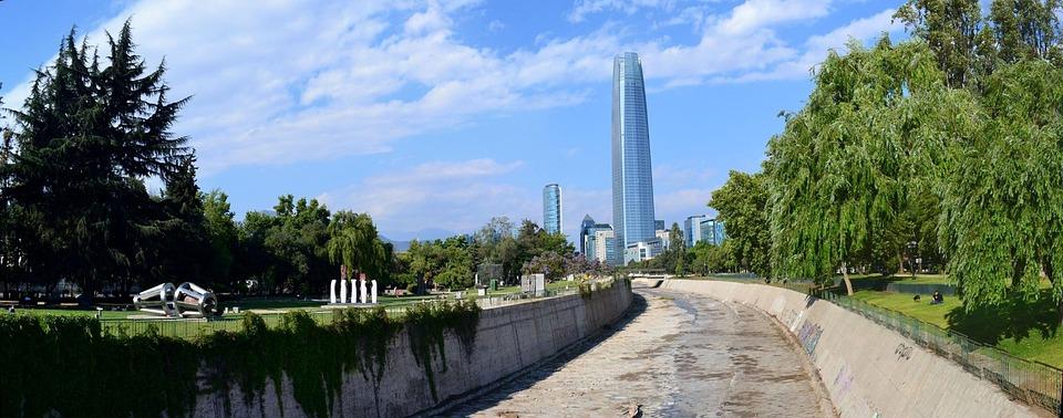 Santiago De Chile Río Mapocho Foto Gratis En Pixabay