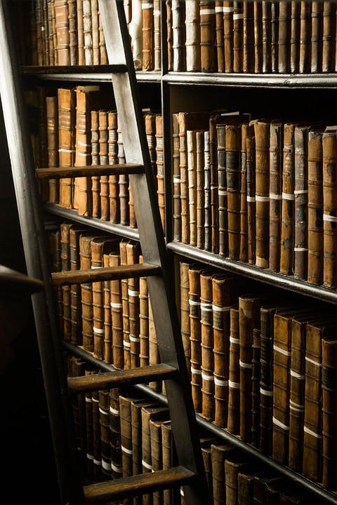 Bücher, Bibliothek, Dublin, Irland, Im Ausland