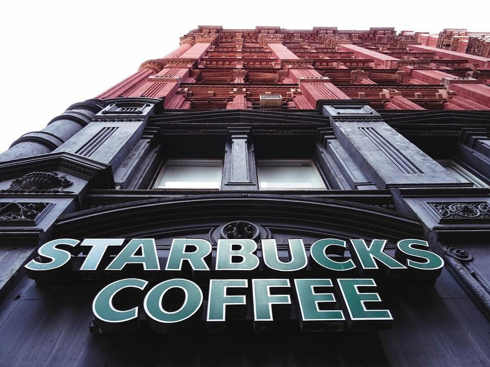 Starbuck, コーヒー, 陶芸家, 建物, ニューヨーク, 視点, マンハッタン, 米国
