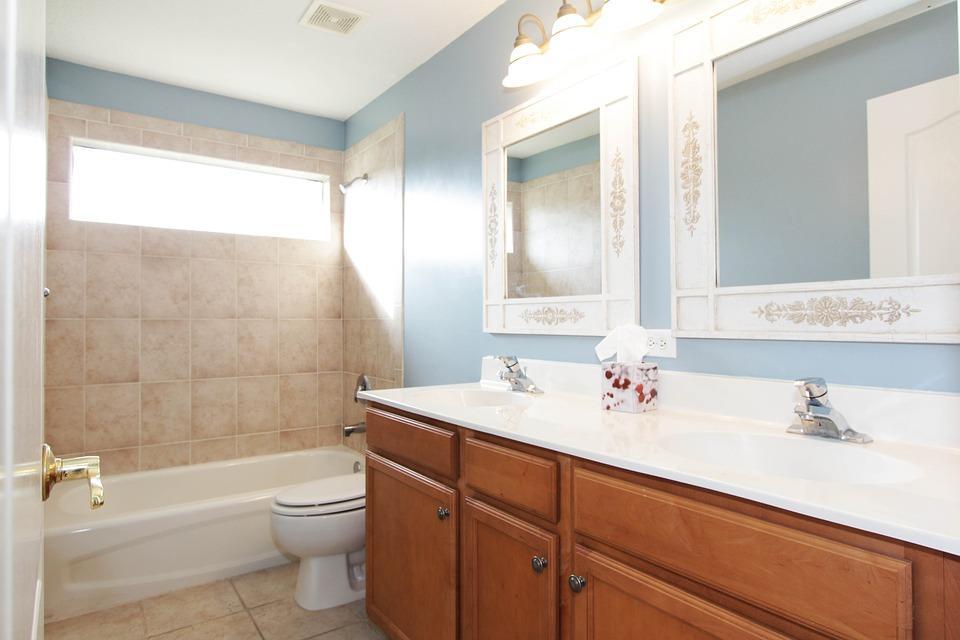 Bathroom Dual Sinks House Interior Mirror
