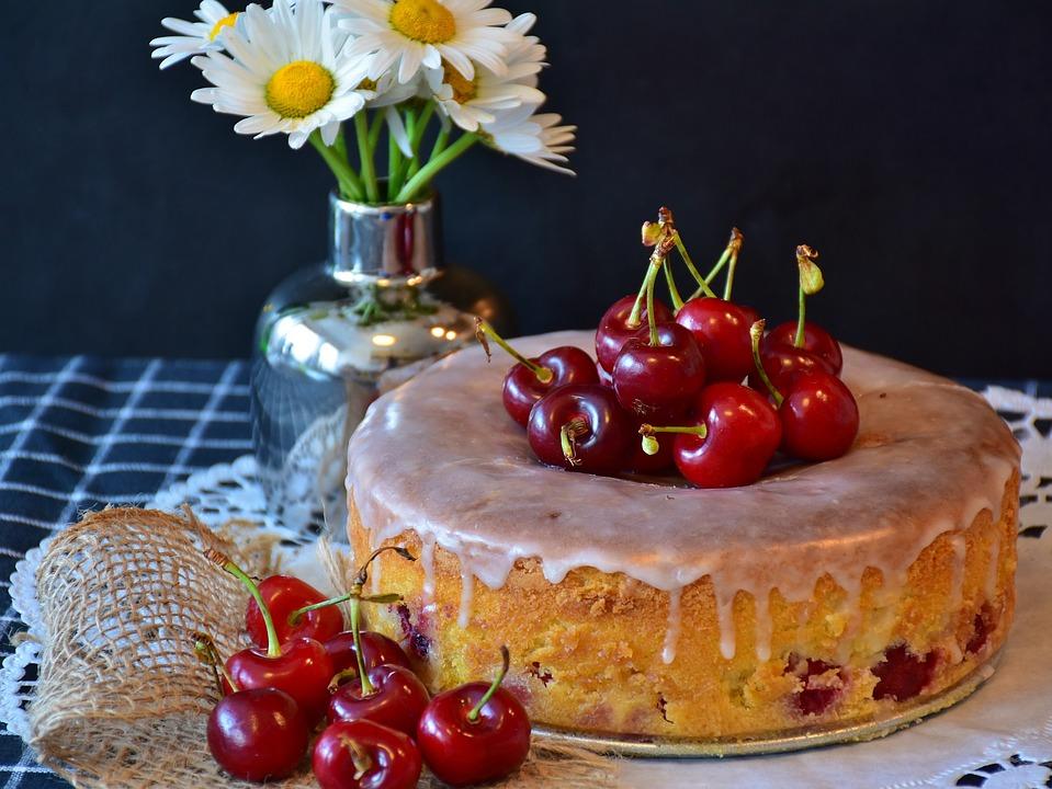 Kirschkuchen Kuchen Kirschen Kostenloses Foto Auf Pixabay
