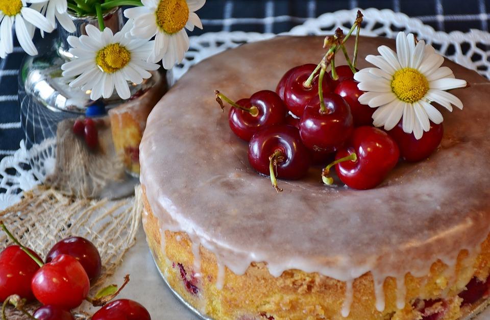 Torta De Cereja, Bolo, Cerejas, Assar, Cozinha, Farinha