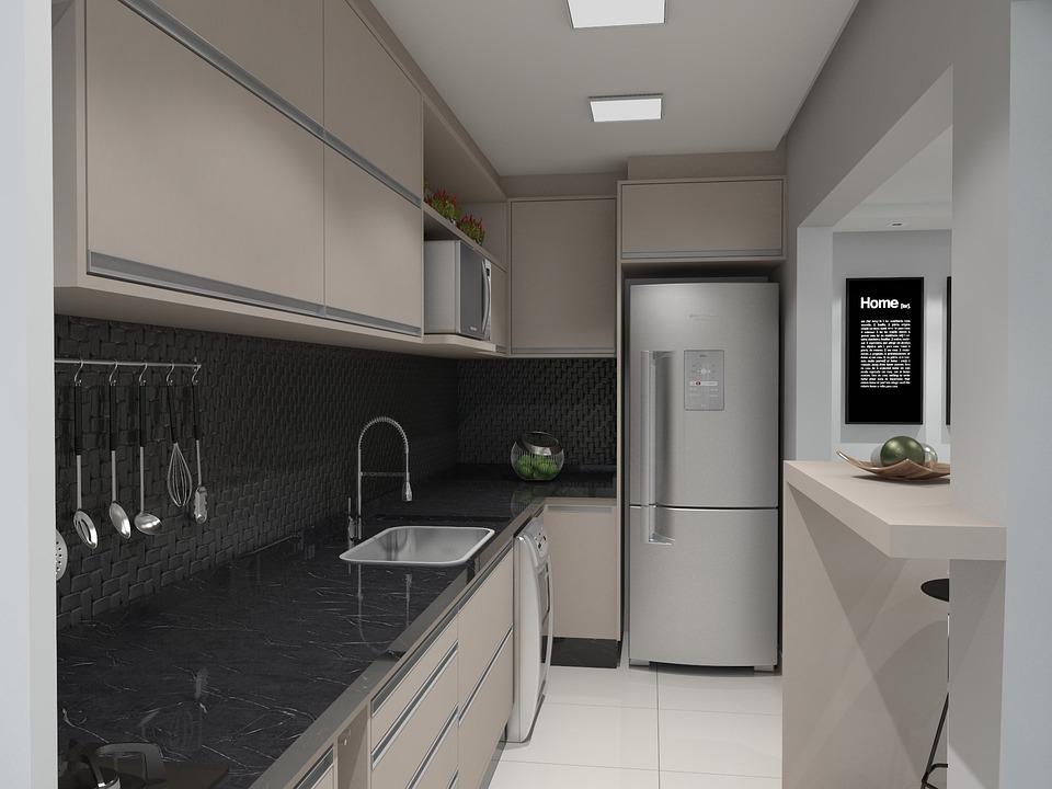 Kitchen 3d Render Moveis Planejados