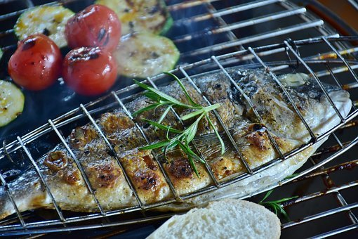 Fish, Sea Bream, Barbecue, Grilled, Food