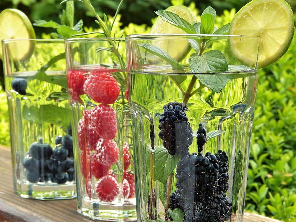 Acqua, Frutta, Cannucce, Occhiali, Giardino, Fuori