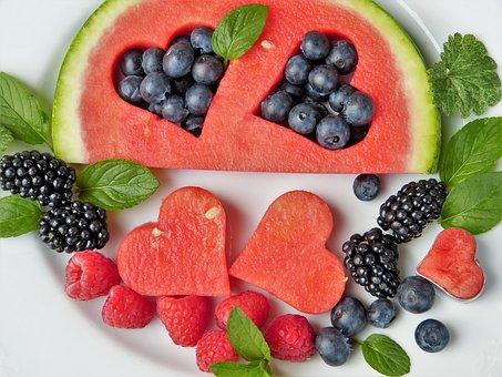 Wassermelone, Beeren, Früchte, Herz