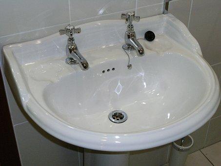 Bathroom, Sink, Basin, White