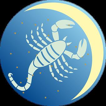 Scorpio, Zodiac Sign, Zodiac, Moon, Star