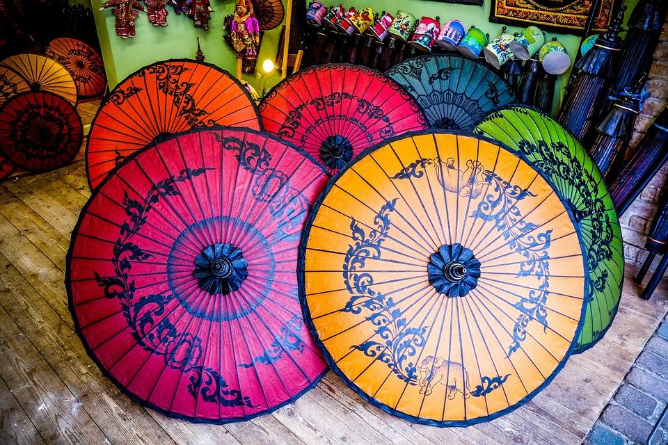 oriental umbrellas multi color free photo on pixabay