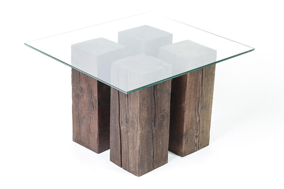 mesa vidrio madera de madera diseo rstico