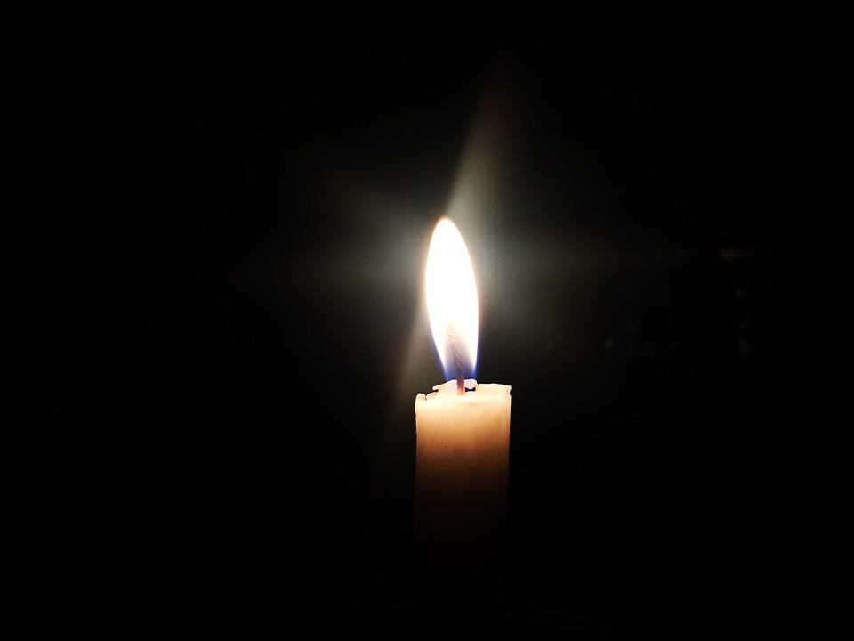 candle representing remembrance of life