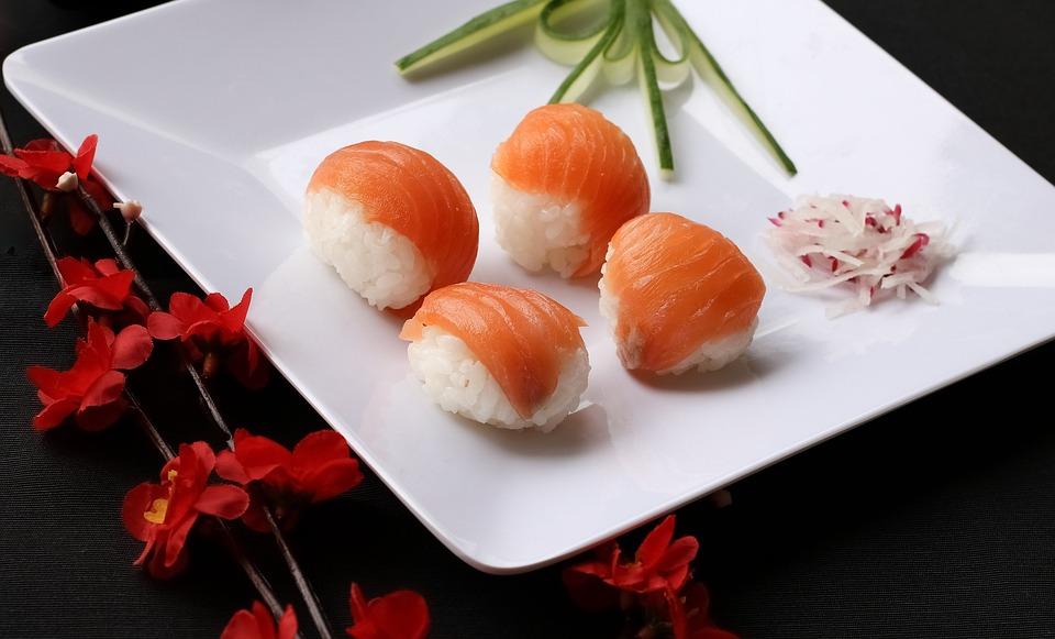 sushi comida japonesa japons conjunto alimentos