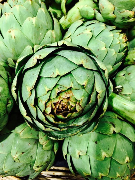 Artischoken, Grün, Essen, Frisch, Sommer, Vitamin