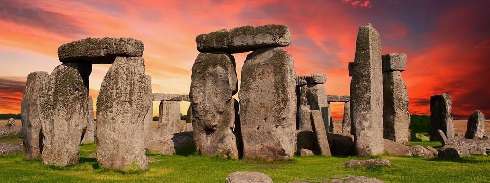 Stonehenge, Ancient, Banner, England, Monument, Uk