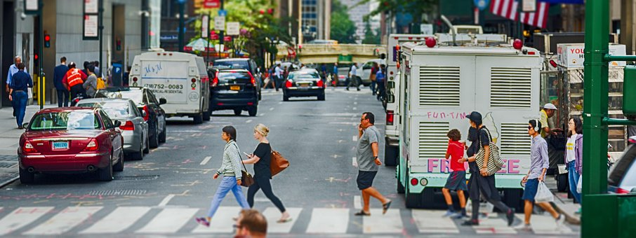 New York, Stadt, Banner, Kopfzeile