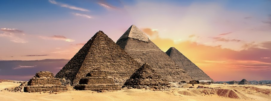 Pyramids, Egypt, Egyptian, Ancient