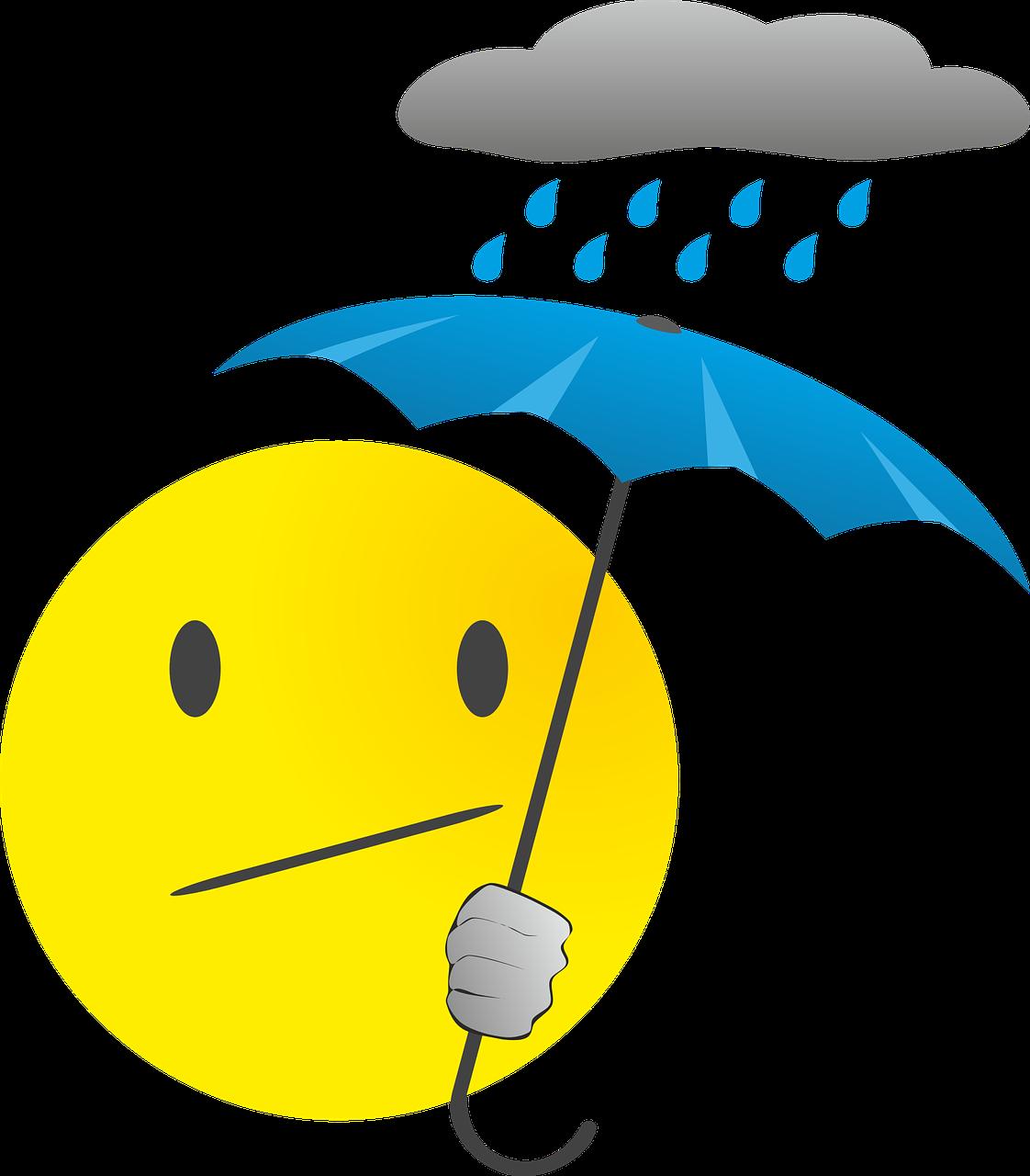 Smiley Émoticône Pluie - Images vectorielles gratuites sur Pixabay