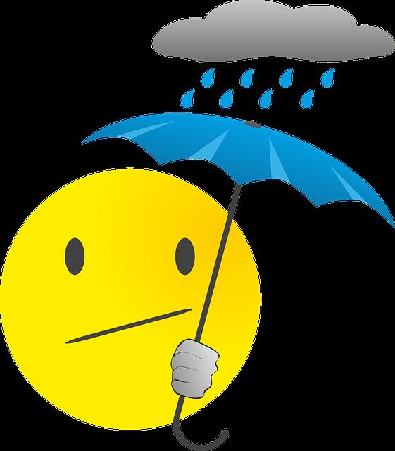 Smilie Regen