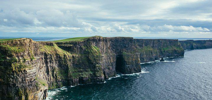 Cliff Of Moher, Ireland, Cliffs, Coast