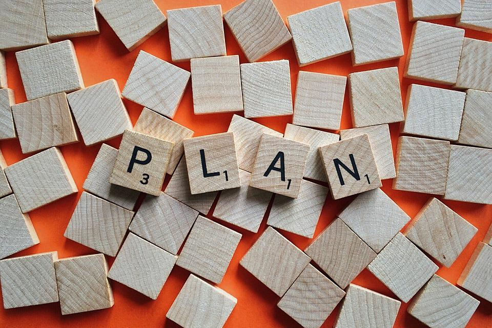 Plan, Objective, Strategy, Goal, Process, Success
