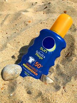 Sunscreen, Sun Milk, Lotion, Sun, Beach