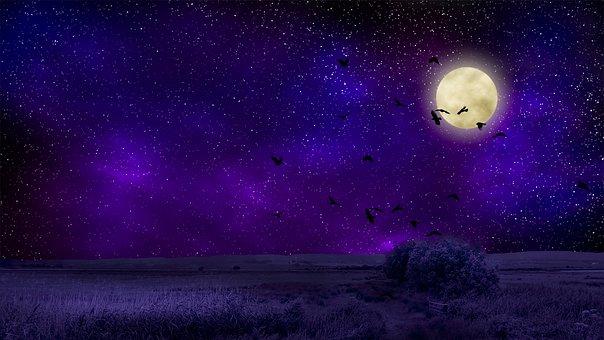Moon, Φως Του ΦεγγαÏιοÏ, ÎÏχτα, ΟυÏανό