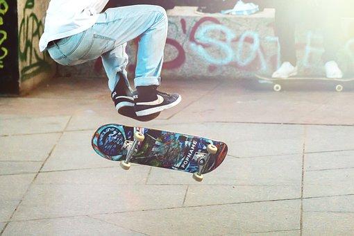 Skateboarder, Man, Boy, Skateboard