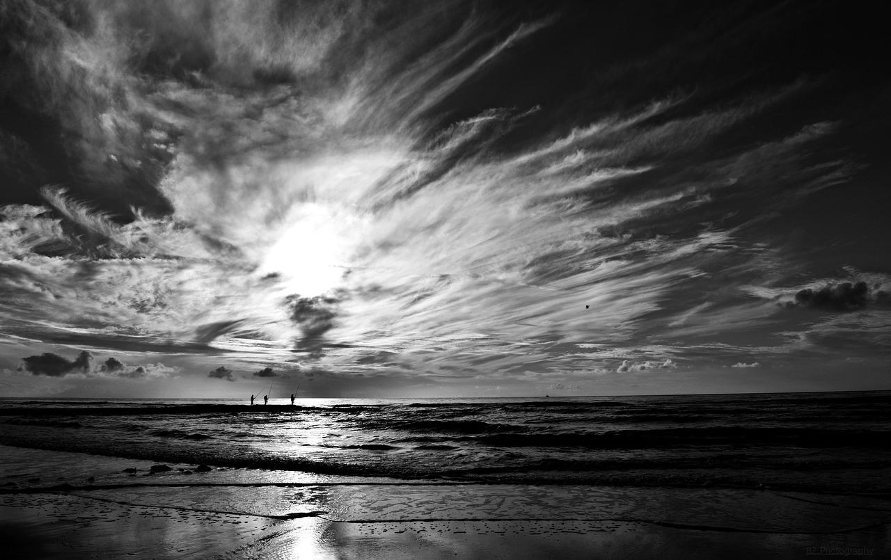 Laut Hitam Putih Foto Gratis Di Pixabay