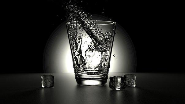 Glass, Water, Fresh, Pour, Liquid