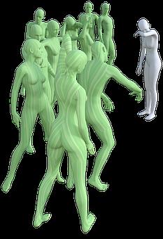 Mobbing, Menschenmenge, Menschengruppe