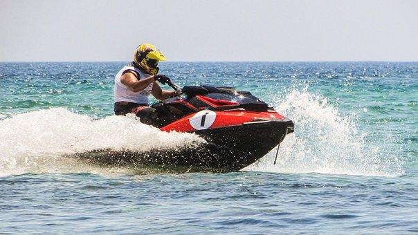 Jet Ski, Sport, Speed, Water, Spray, Sea