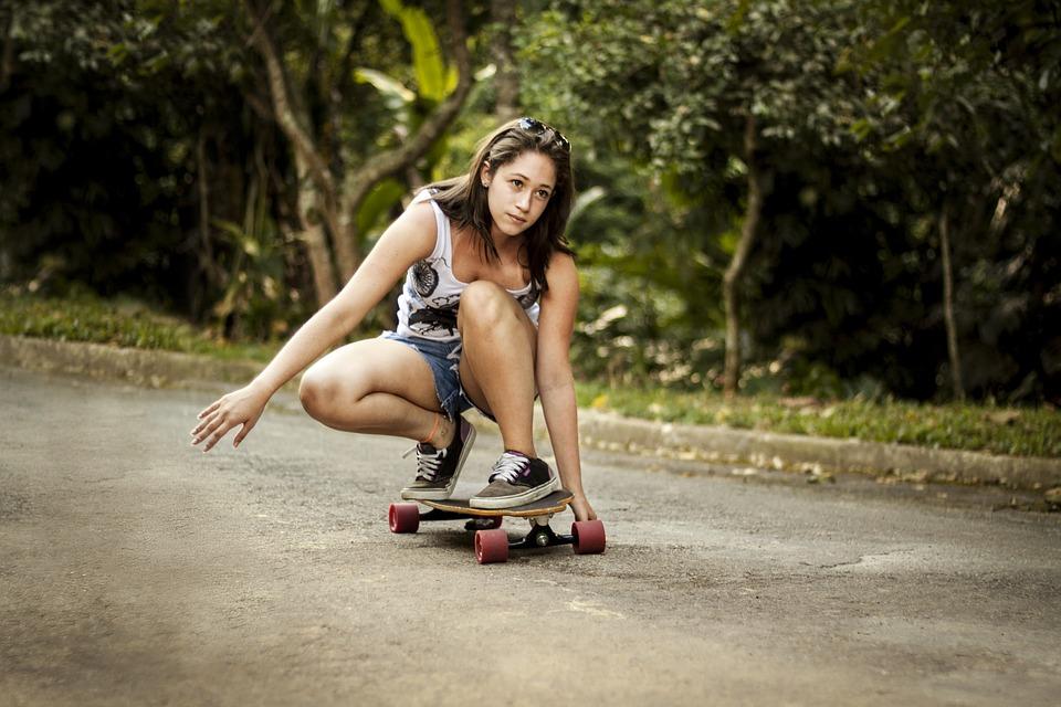 Skateboard, Girl, Woman, Sports, Sport