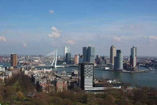 Rotterdam, Euromast, Erasmus Bridge